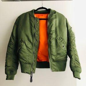 Alpha Industries Green bomber jacket